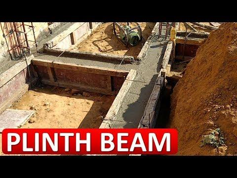Plinth Beam Construction On Site प्लिंथ बीम की ढलाई करना