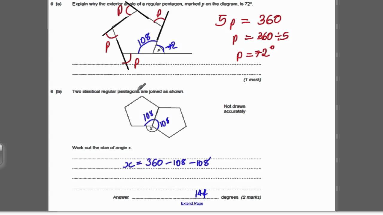 Algebra & Geometry 1 (GCSE Higher Maths) - Exam Qs 26 - YouTube