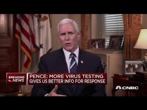 U.S. Vice President Mike Pence: Previous Modeling On Coronavirus Spread Seems To Be 'really Wrong'