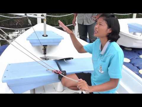 อบรมการเล่นเรือใบ ที่ศูนย์กีฬาทางน้ำบึงหนองบอน