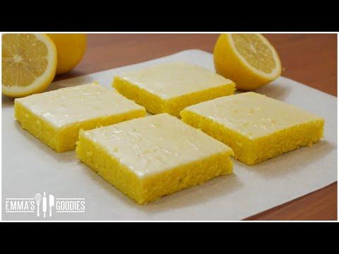 Glazed Lemon Cake Brownies - Lemon Bars Recipe
