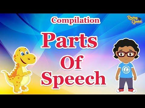 Parts Of Speech | English Grammar Compilation For Kids | Roving Genius
