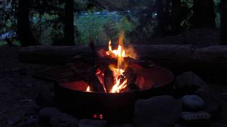 Relaxing Campfire Beside a River Deep in the Mountains - 1 Hour
