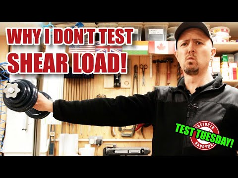 Shear Loads vs Axial Loads and recalibrating my test rig - Test Tuesday!