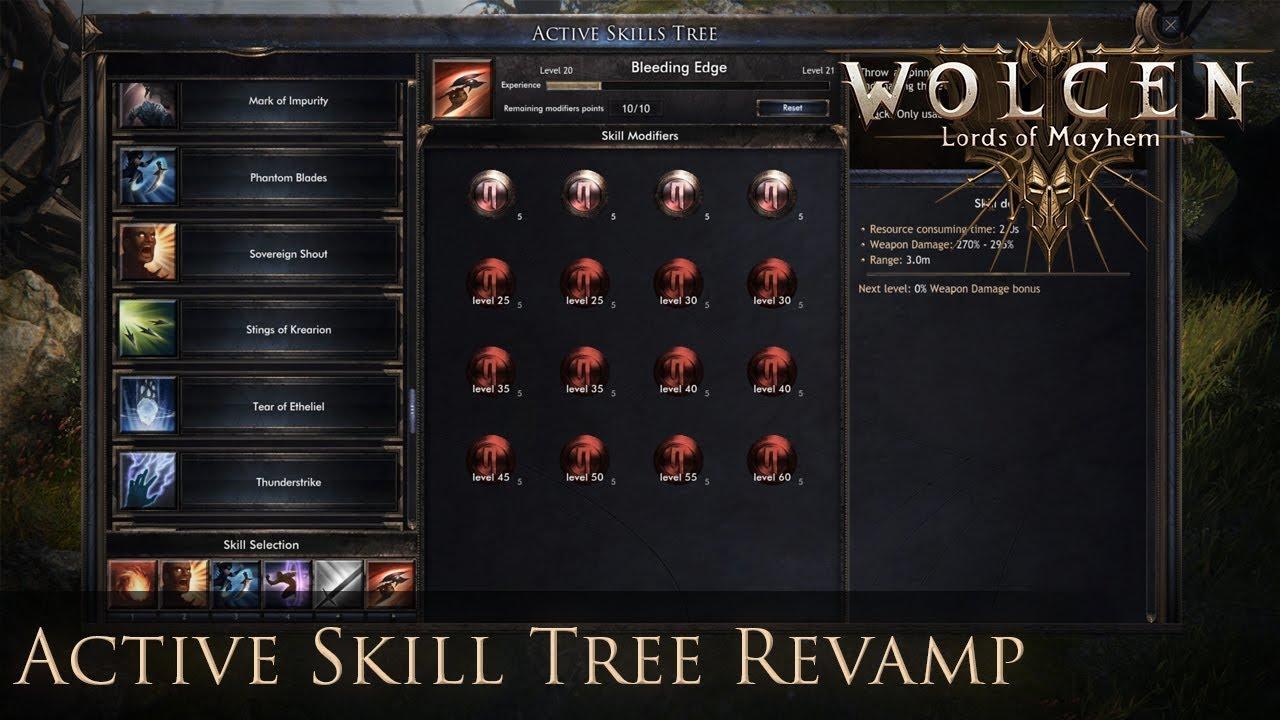 Wolcen Beta Gameplay - Active Skill Tree revamp