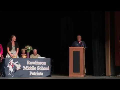 Nikos Varelas Rawlinson Middle School 8th Grade Award