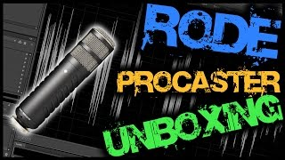 Rode Procaster Mic Unboxing & Test