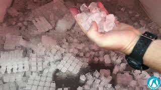 Cube ice machine test before loading to Nigeria