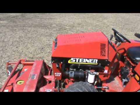 Husqvarna Lawn Mower Parts >> Steiner 430 Max Articulating Lawn Tractor 4x4 Kubota Diesel For Sale - YouTube