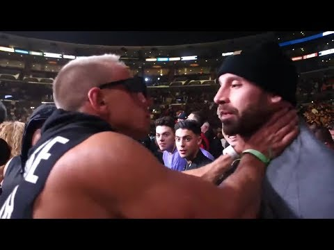 VITALY PUNCHED BY BRADLEY MARTYN AT LOGAN PAUL VS KSI BOXING MATCH
