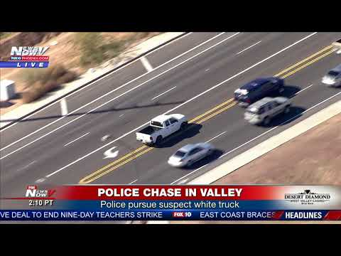 CARJACKING: Caught live during police chase in Phoenix area (FNN)