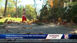 High winds knock out power to thousands