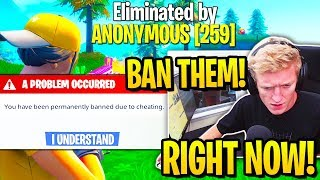 TFUE SPECTATES *TWO CHEATERS* in SOLOS & BANS THEM! (Fortnite)