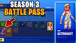 SEASON 3 BATTLE PASS GELEAKT | ASTRONAUTEN SKINS | From 70 to 100 | Fortnite Battle Royale