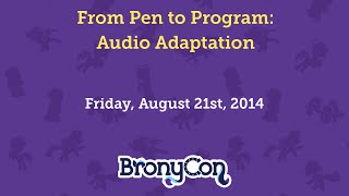 From Pen to Program: Audio Adaptation