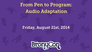 From Pen to Program: Audio Adaptation