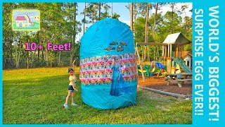 Video THE WORLDS BIGGEST GIANT SURPRISE EGG OPENING SpiderMan & Elsa Frozen RideOn Cars Surprise Toys download MP3, 3GP, MP4, WEBM, AVI, FLV November 2017