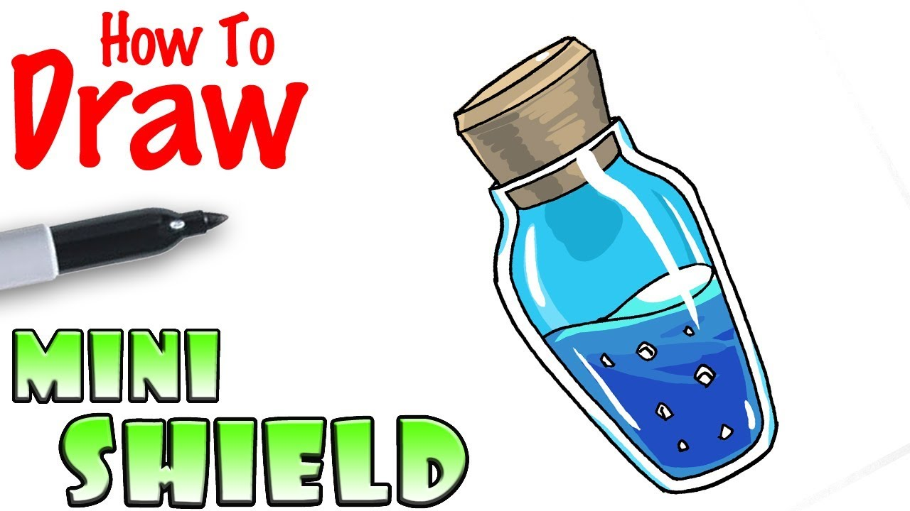 How To Draw The Mini Shield Fortnite Youtube