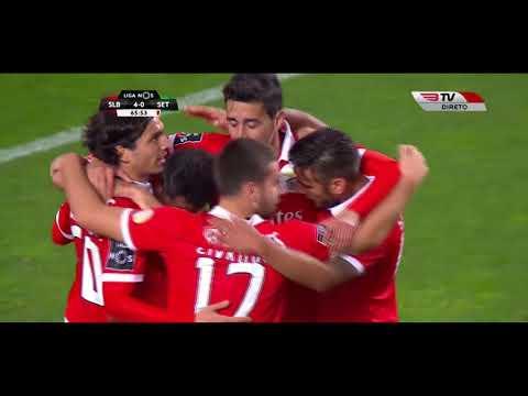 BENFICA 6 x 0 Setubal Golos com Relato -  BTV - Jornada 12 (Liga NOS) 17-18 HD