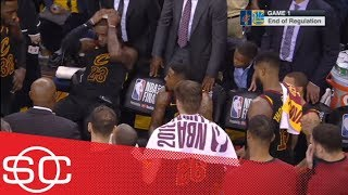 LeBron James stunned when he finds out Cavs still had timeout at end of Game 1 | SportsCenter | ESPN