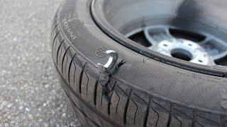 Шиномонтажник забыл гаечный ключ внутри колеса(Шиномонтажник забыл гаечный ключ внутри колеса., 2015-03-10T16:56:31.000Z)