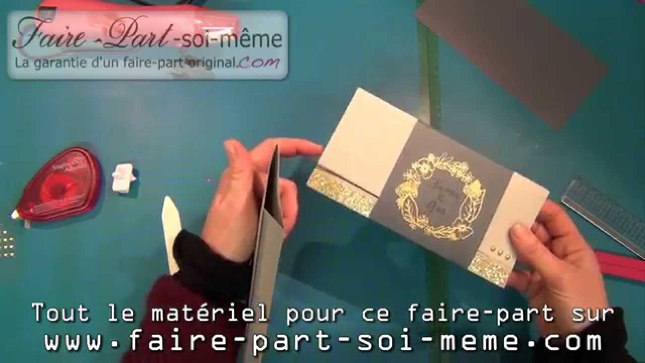 faire part de mariage gris et or youtube. Black Bedroom Furniture Sets. Home Design Ideas