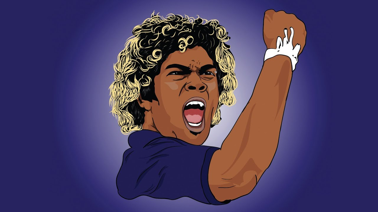 Lasith Malinga Drawing In Illustrator Sl Art Youtube