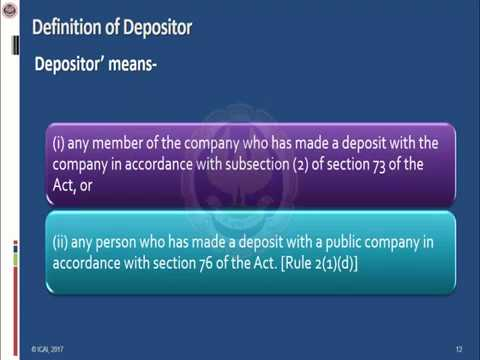 Company Law : Chapter 5 - Acceptance of Deposits by Companies