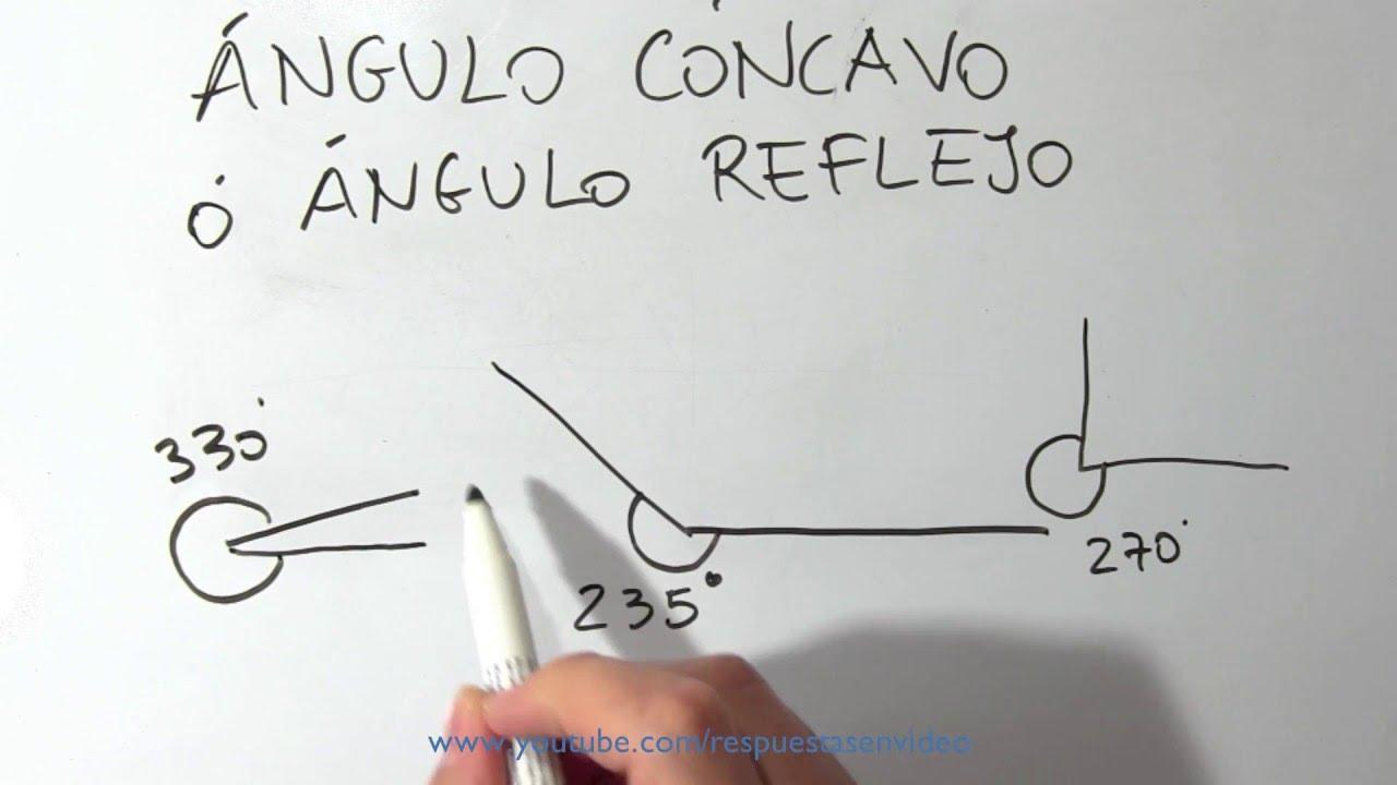 d31436b9f1 Qué es un ángulo cóncavo o reflejo - Cuál es, definición, dibujos y ejemplos  - YouTube