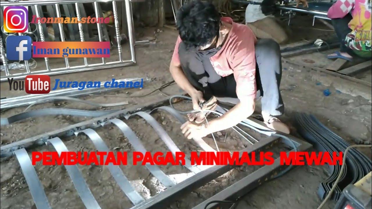 #pagar #minimalis Pembuatan Pagar Semi Mininalis Mewah ...