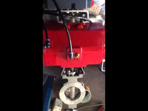 Testing of Positioner couple with elo-matic actuator