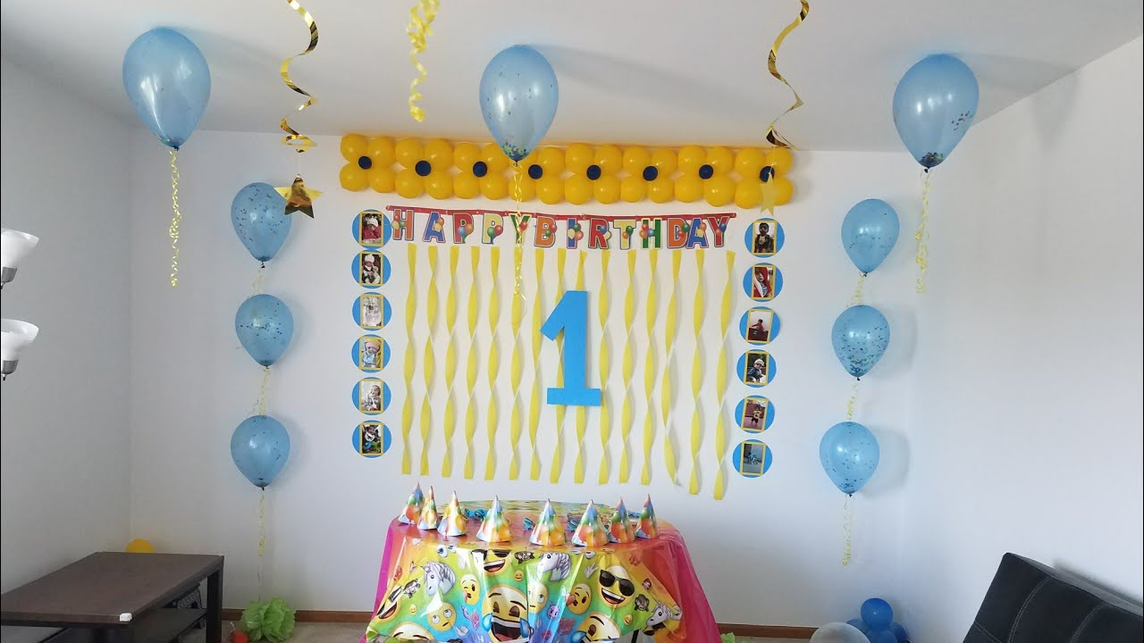 birthday decoration ideas at home with balloons birthday decoration ideas at home diy balloons 13560