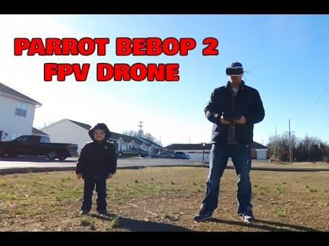 PARROT BEBOP 2 FPV DRONE FIRST FLIGHT FOOTAGE