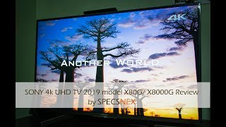 Sony Bravia 4K UHD TV X80G or X8000G 2019 model review by SpecsNex