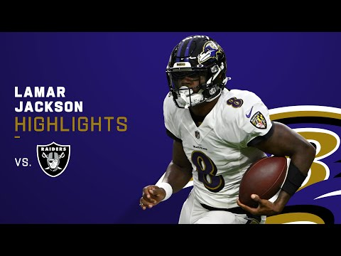 Lamar Jackson's Best Throws and Runs of the Night   NFL 2021 Highlights
