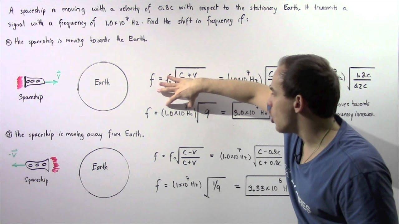 Doppler Effect Of Light Example Youtube