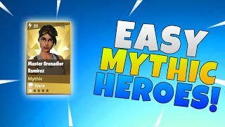How To Get Easy Mythic Heroes In Fortnite Save The World