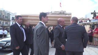 Video Funeral for murdered Maltese journalist Daphne Caruana Galizia download MP3, 3GP, MP4, WEBM, AVI, FLV November 2017