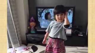 らむちゃん4歳が「トゥーザシャキナべイビーロンリファイト(女塾オールスターズ)」やってみた 黒沢美怜 検索動画 28