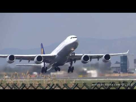 [FULL HD] Lufthansa A340-600 **Bayern Munich Footbal Team** at Barcelona-El Prat
