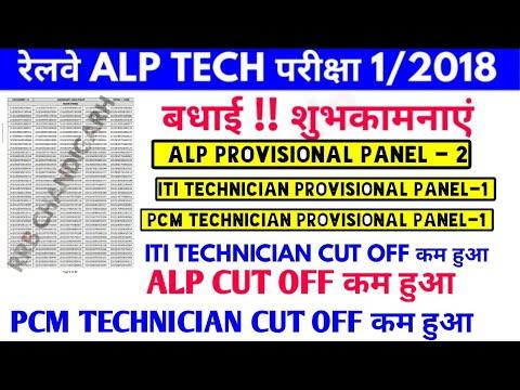 ALP Provisional panel-2 & ITI Technician RRB Chandigarh Cen. Notice 1/2018