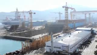 Time Lapse Video of Cargo Vessel Construction