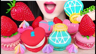 ASMR FRESH STRAWBERRY, MACARON…