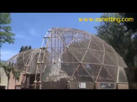 zoo monkey cage enclosure mesh, golden monkey fence netting