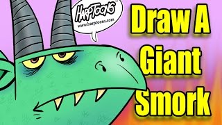 Draw A Dragon With The Number 4- Harptoons