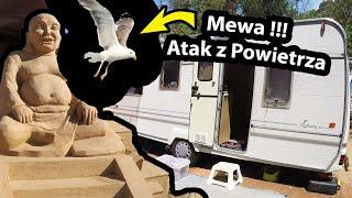 Mewa Bombarduje Przyczepę Kempingową !!! - Odwiedzamy Sand CITY i Jaskinie w Alvor (Vlog #305)