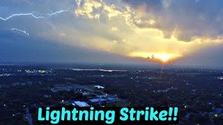LIGHTNING STRIKE CAUGHT ON DRONE!!
