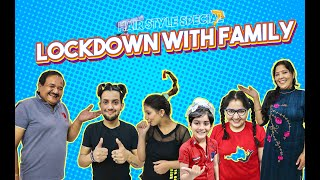 Lockdown With family (part- 5) | Funny Hairstyle Challenge | Vivek Choudhary ft. Khushi punjaban