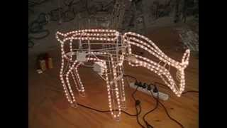 Christmas Lighting Show Display: Large Moving Head Reindeer 3d Model With Motor