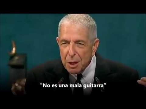 Leonard Cohen discurso Premio Príncipe de Asturias